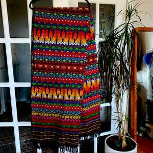 Large vintage Central American embroidery textile